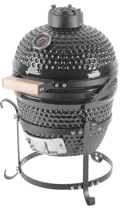 """Gril Strend Pro Kamado Egg 13"""", priemer 27 cm, 35x40,5x55 cm, gril. výška 34,5 cm, čierny"""