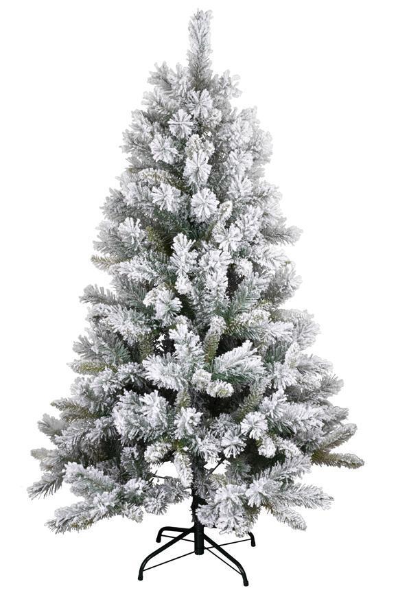 Stromček MagicHome Vianoce Harry, jedľa zasnežená, 150 cm