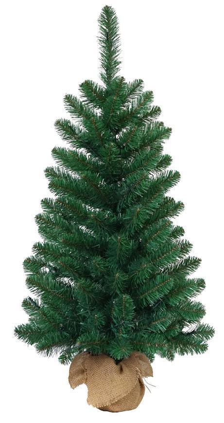 Stromček MagicHome Vianoce Rudolf, jedľa v jute, 90 cm