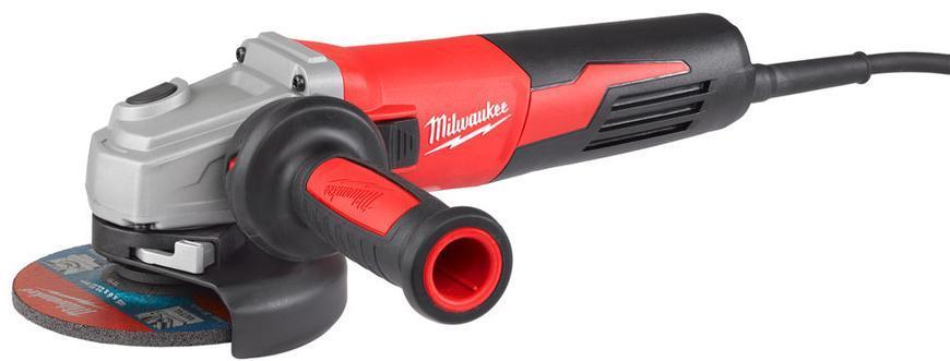 Bruska Milwaukee® AGV 13-125 XE, 125 mm, 1250W, protector-motor, uhlová