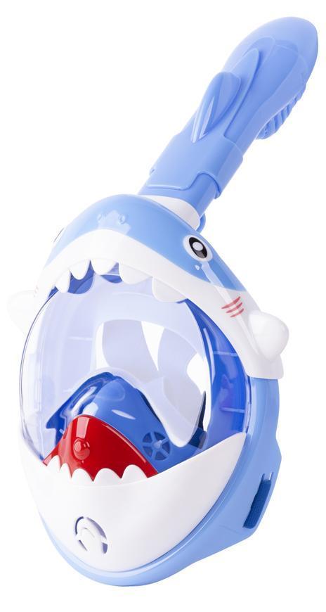 Maska šnorchlovacia Shark, celotvárová, pre deti 4+, XS, modrá