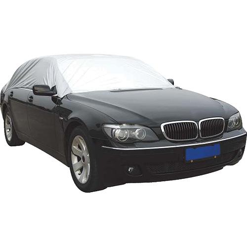 Autoplachta STREND PRO MCA TC106 317x147x51 cm, (XL) PE, strieborná
