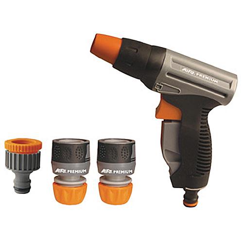 Sada spojok Ai2872, záhradná, zavlažovacia, 1x pištoľ, 2x spojka, 1x adaptér