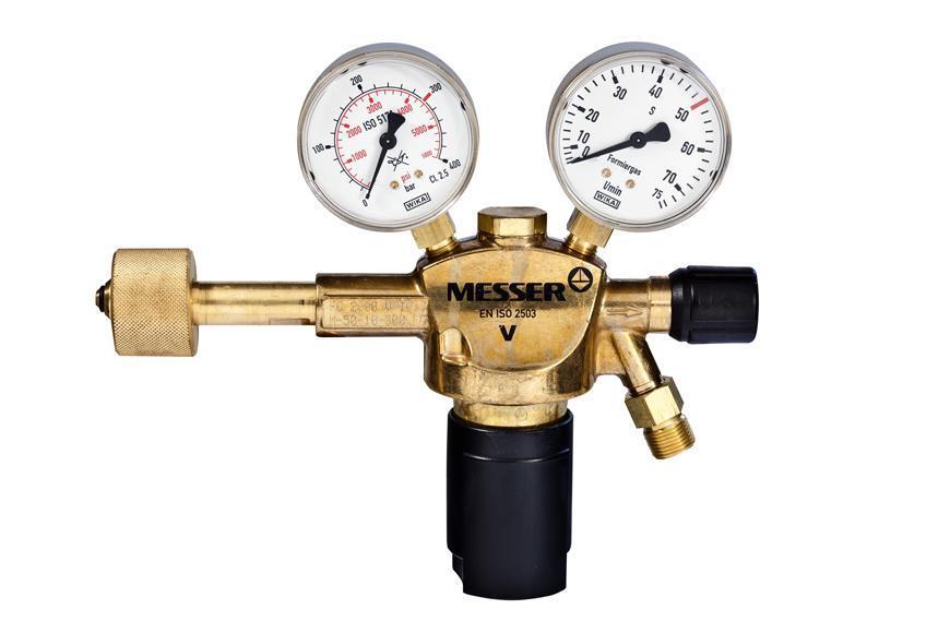 """Ventil Messer 716.20114, G3/8"""" LH, DN8, 50 l/min, Formovaci plyn"""