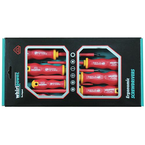 Sada skrutkovačov Whirlpower® 102-306, elektrikárska, 6 dielna, VDE 1000, Ergonomic