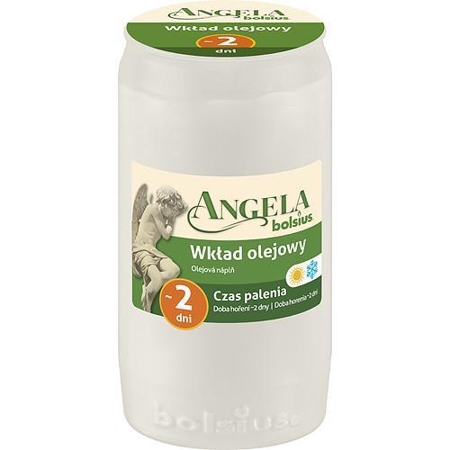 Napln bolsius Angela NR02 biela, 45 h, 110 g, olej