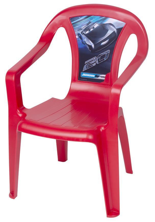 Stolička BABY Disney Cars Red, detská 52x40x36,5 cm, mix obrázkov