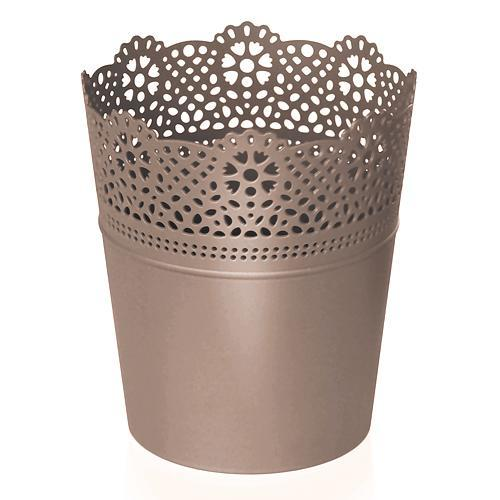Kvetináč LACE 160 mm, mocca