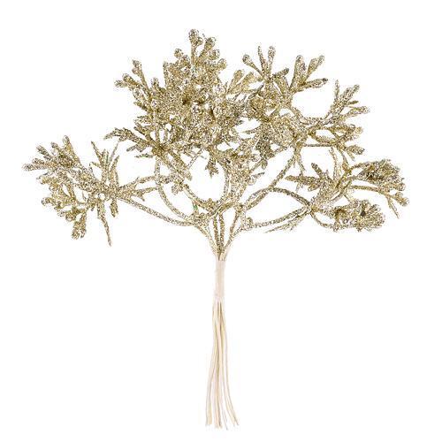 Vetvička, zlatá 15cm, 6 ks