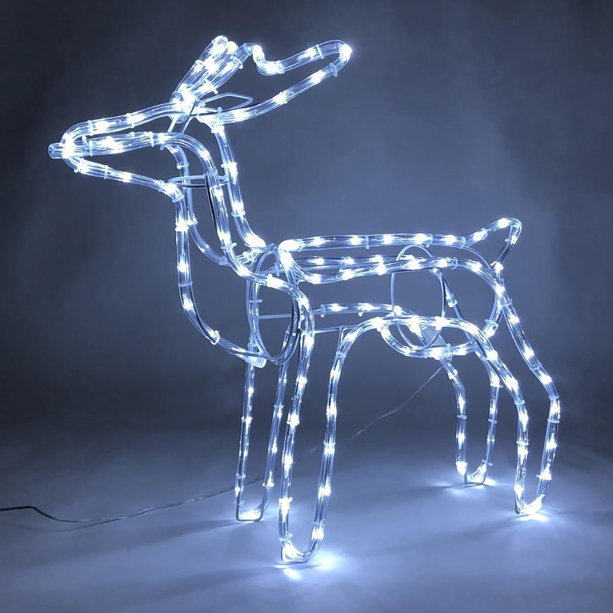 Dekorácia MagicHome VIanoce, Sob, 144 LED studená biela, 230V, 50 Hz, exteriér, 59x27,50x64 cm