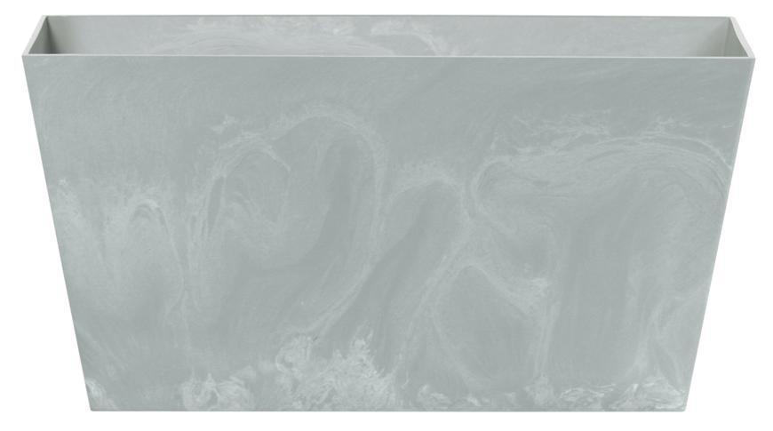 Kvetináč TUBUS Case Beton 600x324x300 mm, vzhľad betón