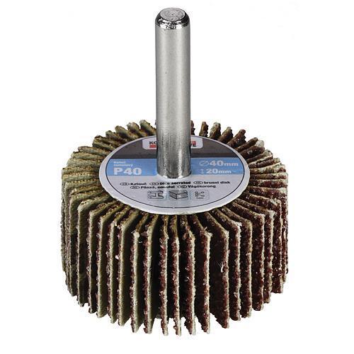 Kotúč KONNER FW402, 40x20 mm, P080, lamelový, na stopke, do vŕtačky