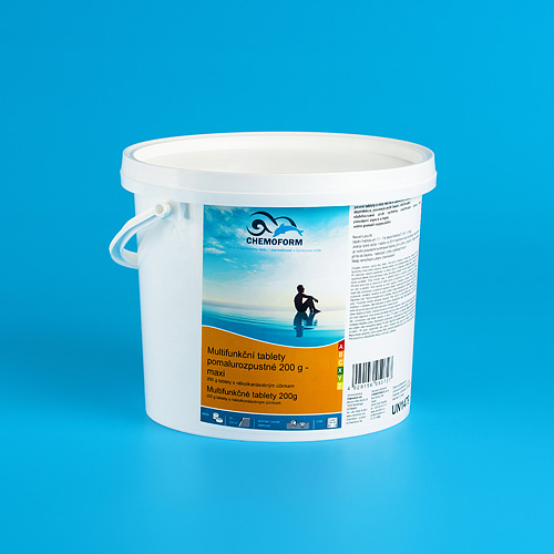 Tablety Chemoform 7605, 200 g, multifunkčné, pomalorozpustné, bal. 5 kg