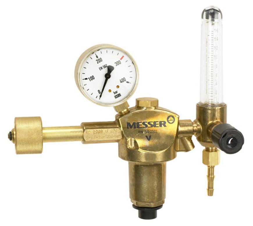 """Ventil Messer 716.20127, G3/8"""" LH DN6, Ar/CO2 16l/min, prietokomer"""