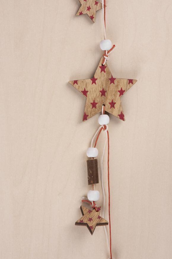 Dekorácia MagicHome Vianoce Woodeco, Hviezdy a hviezdičky, 125 cm