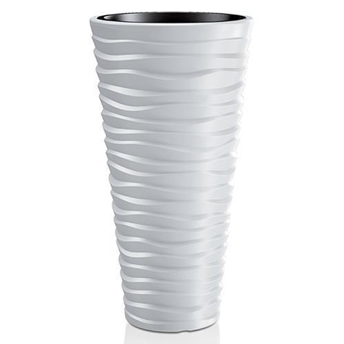 Kvetináč SAND Slim 400, 390x750 mm, biely, vložka