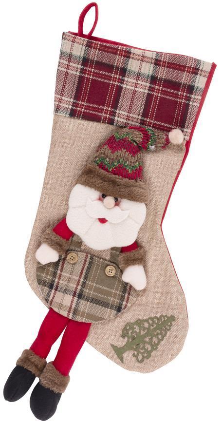 Dekoracia MagicHome XmJ014, Ponožka Santa, 50 cm