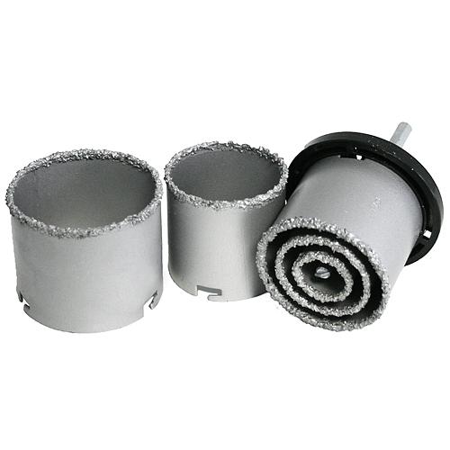 Sada vyrezávačov s unášačom HT01-4001, 33-53-63-73-83 mm, diamantové korunky