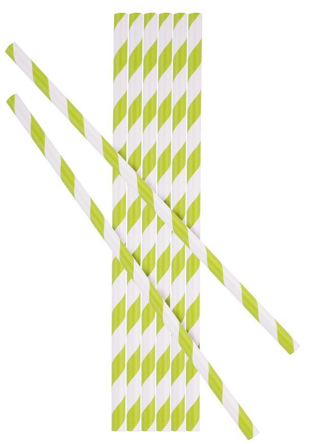 Slamka MagicHome Paper ECO, 6x197 mm, zelená, bal. 25 ks