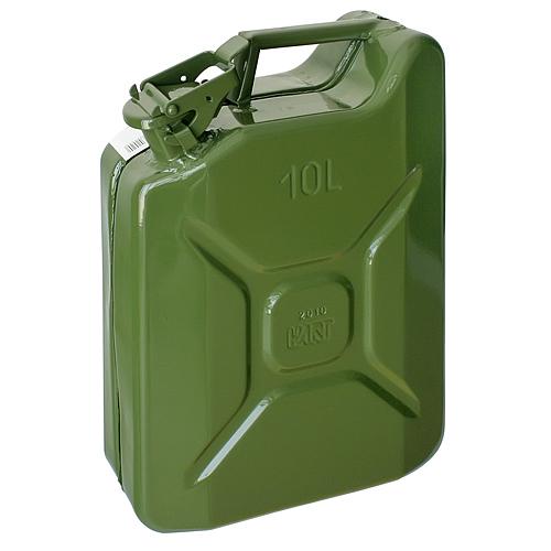 Kanister Jerican 10 lit, kovový, na PHM, GS/TUV, zelený, RAL6003