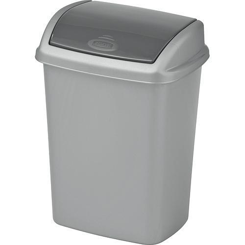 Kôš Curver® DOMINIK 10L, stříbrná/grafitová, na odpad