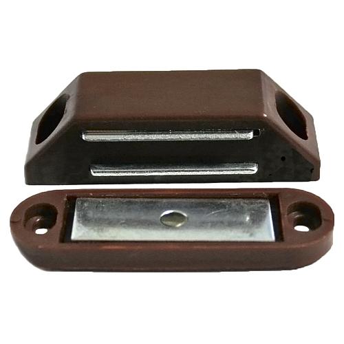 Magnety T0372, na dvere, 62 mm, hnedé