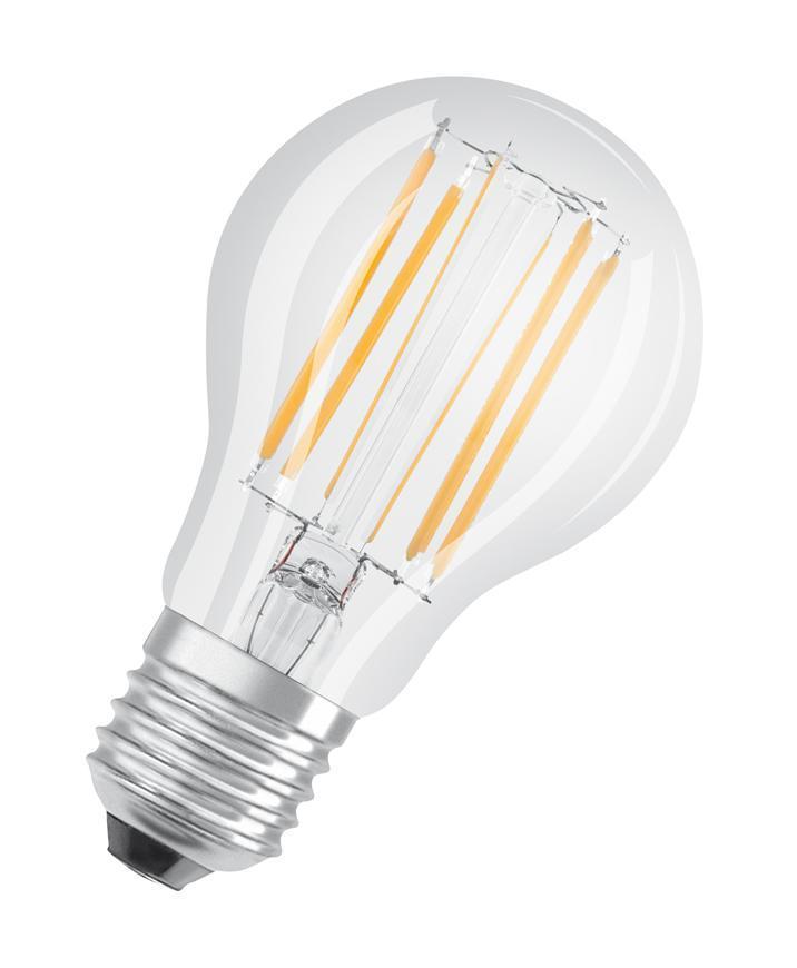 Ziarovka OSRAM® LED FIL 075 (ean8669) non-dim, 8W/827 E27 2700K Value CLASSIC A
