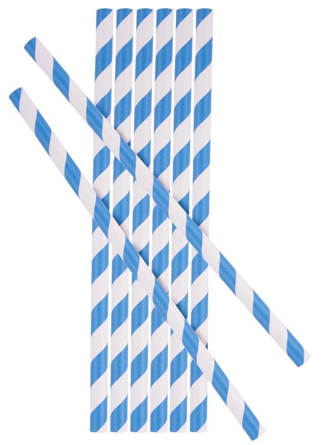 Slamka MagicHome Paper ECO, 6x197 mm, modrá, bal. 25 ks
