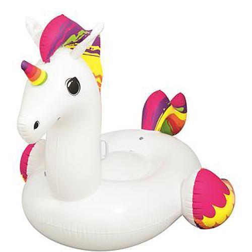 Jednorožec Bestway® 41113, Supersized unicorn rider, detský MAXI, nafukovací, 2,24x1,64 m