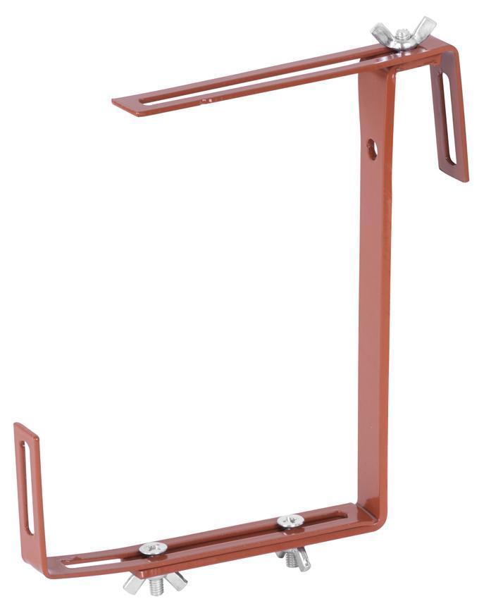 Vesiak Strend Pro, hnedý, na kvetináč truhlík, držiak kovový, bal. 2 ks