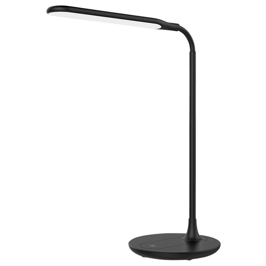 Lampa LED, stolná, stmievateľná, čierna, 6 W, 4500 K