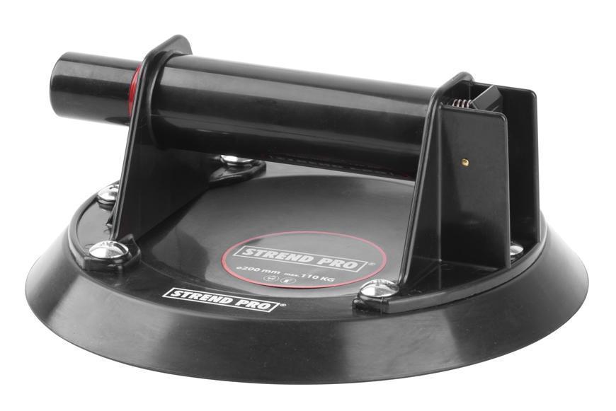 Držiak skla Strend Pro CU681, prísavný s pumpou, 1-kupolový, 20 cm, max. 110 kg, v kufri