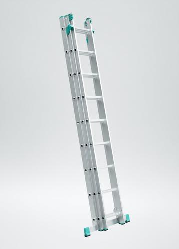 Rebrík ALVE 7810, 3x10, univerzálny, A286 B626, na schody