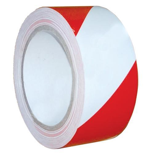 Paska Strend Pro, 75 mm, L-250 m, 60°C, PE, výstražná, červeno/biela