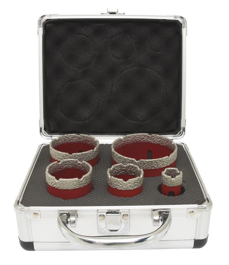 Sada vyrezávačov Strend Pro Premium DCB11S5, 20-35-45-55-68 mm, M14, diamant, korunky, professional