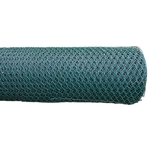 Pletivo GARDEN HEX PVC 1000/16/0,9 mm, zelene, RAL 6005, šesťhranné, záhradné, chovateľské, bal. 25