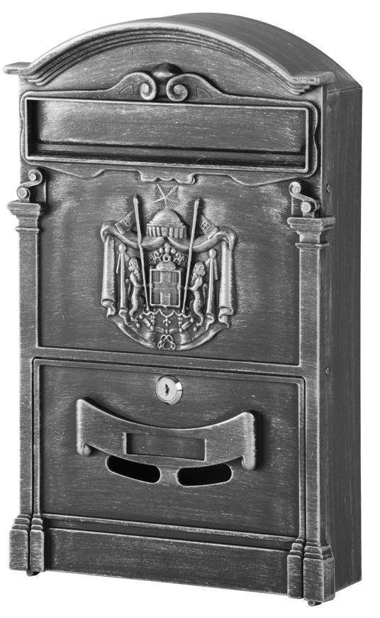Schranka ALU, hliníková, antique silver, 410x255x90 mm