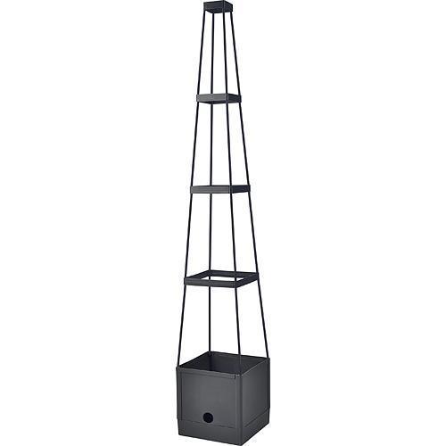 Kvetinac Herrison FP8018, 25x25x105 cm, s opornou vežou