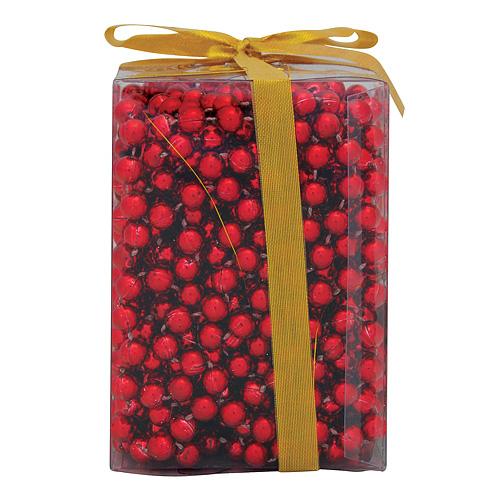 Ozdoba MagicHome Vianoce, girlanda - guľôčky, červená, 10 m