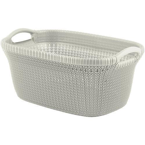 Kôš Curver® KNIT 3677 40L, krémový, 60x27x39 cm, na bielizeň, prádlo