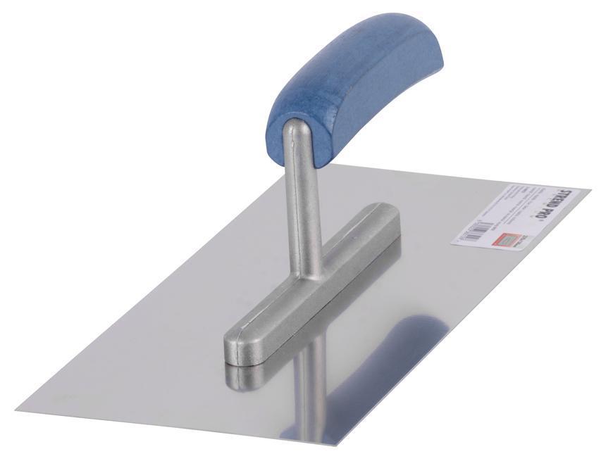Hladítko Strend Pro Premium, 270x130 mm, rovné, nerezové, s drev. rúčkou
