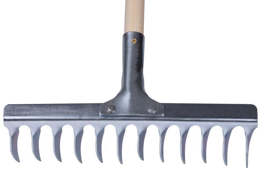 Hrable R108A.WH, 12 zubé, na trávnik, s násadou