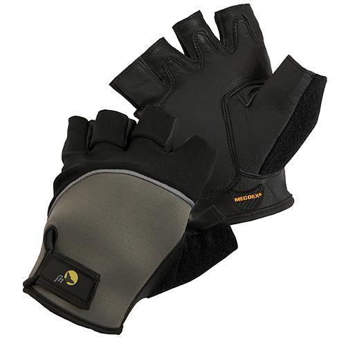 Rukavice fh® FUSCUS 10, bez prstov, koža/Lycra/Neoprén, s blistrom