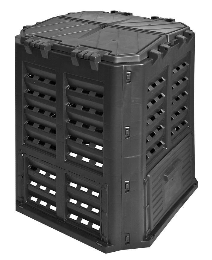 Komposter Patrol ECO Multi 320 lit, čierny, PE