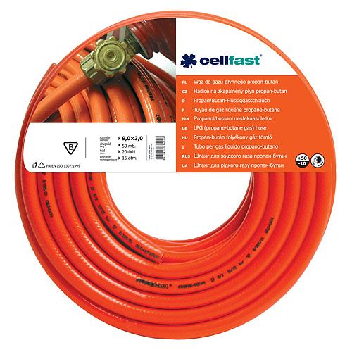 Hadica Cellfast 20-001 na plyn, LPG 9,0x3,0 mm, L-50 m