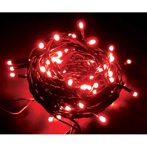 Reťaz MagicHome Vianoce Orion, 100 LED červené, 8 funkcií, 230V, 50 Hz, IP20, interiér, L-10 m