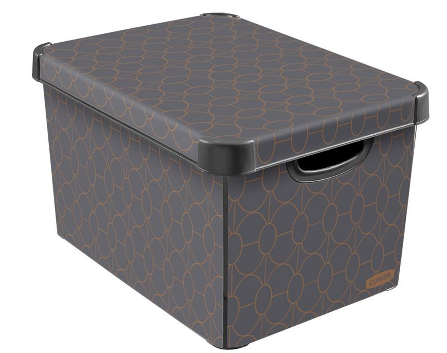 Box Curver® DECO STOCKHOLM L, Arte Deco, 40x25x30 cm