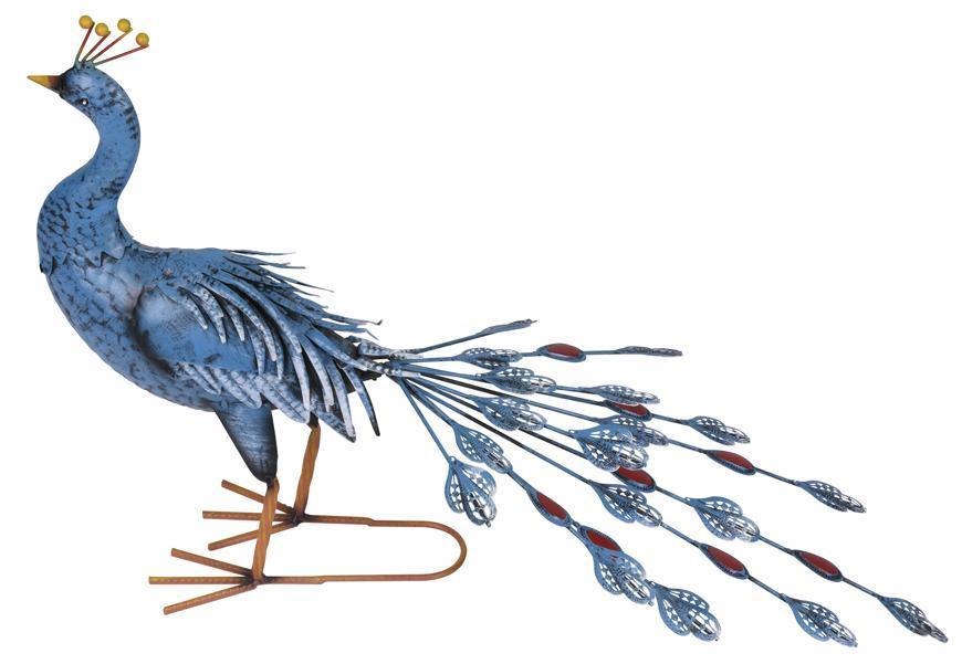 Dekoracia Mecco 8106, Páv, 46 cm, plech