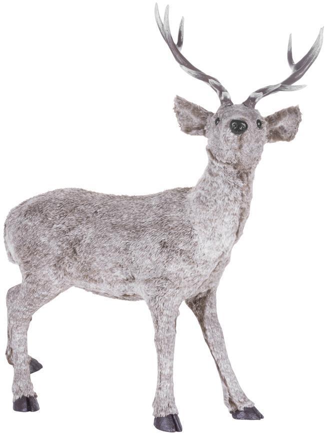 Dekorácia MagicHome Vianoce, Jeleň, hnedý, 56x29x67 cm