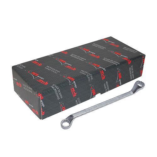 Sada kľúčov IUS 006ST • 08 dielna, DIN838, očkové, vyhnuté 75°, Cr-V